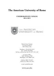 AUR Catalog in PDF - The American University of Rome