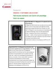 Download het volledige persbericht - Canon
