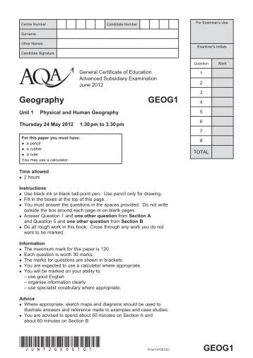 aqa 43652h qp jun12 Own internal use, with the following important exception: aqa cannot give  permission to schools/colleges to photocopy any material that is acknowledged.