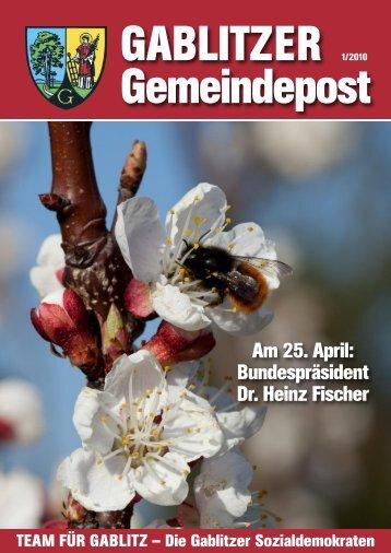 Am 25. April: Bundespräsident Dr. Heinz Fischer - SPÖ Gablitz