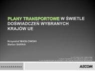 Plan transportowe w świetle doświadczenń wybranych ... - SISKOM