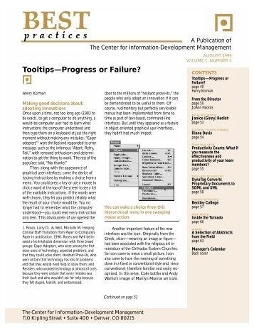 August - Center for Information-Development Management