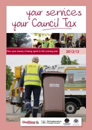 Your Services Your Council Tax [1796kb] - Gedling Borough Council