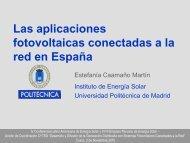 Las aplicaciones fotovoltaicas conectadas a la red en España