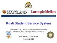Open Source Student Systems - AACRAO