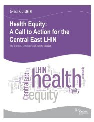 Culture Diversity and Equity Project - Central East Local Health ...