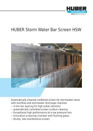 Brochure: HUBER Storm Water Bar Screen HSW