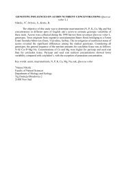 IUFRO Symposium 2003 Submitted Abstracts - National Seed ...