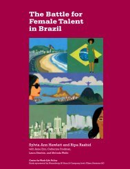 The Battle for Female Talent in Brazil - Center for Work-Life Policy