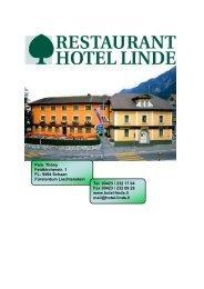 Menuvorschläge festlich (PDF) - Hotel Linde