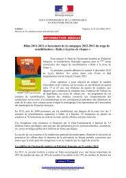 2012-11-23 Information médias - Halte à la prise de risques - Haut ...