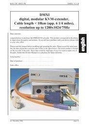 DMXI digital, modular KVM-extender, Cable length < 10km (app. 6 1 ...