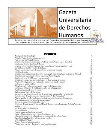Gaceta Universitaria de Derechos Humanos - Universidad ...
