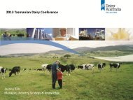 Joanne Bills, Manager Strategy and Knowledge, Dairy ... - DairyTas
