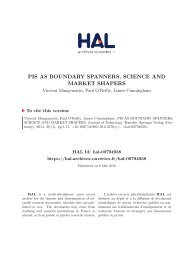 PIS AS BOUNDARY SPANNERS, SCIENCE AND MARKET SHAPERS