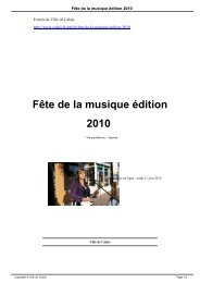 Fête de la musique édition 2010 - Ville de Calais