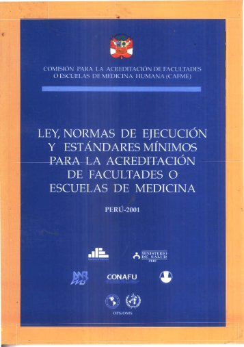 Page 1 LEY, NORMAS DE EIECUCIÓN Y ESTANDARES MÍNIMOS ...