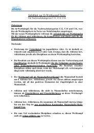 Infoblatt zur Q-Wettkampf-Serie U12, U14, U16 - zürich-athletics