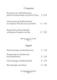 Vorspeisen Suppen - Hotel Exel