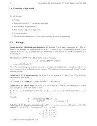 2 Pairwise alignment 2.1 Strings - Algorithms in Bioinformatics
