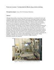 Wastewater treatment - Treating industrial effluents using cavitation ...