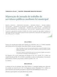Majoração de jornada de trabalho de servidores ... - Revista do TCE