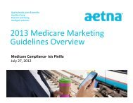 2013 Medicare Marketing Guidelines Overview