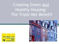 Why Green and Healthy Housing? - HUD