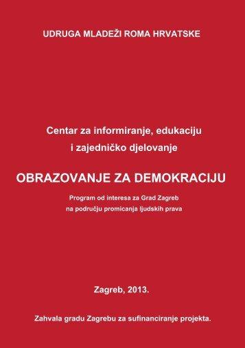 Obrazovanje za demokraciju - Udruga Roma Zagreba