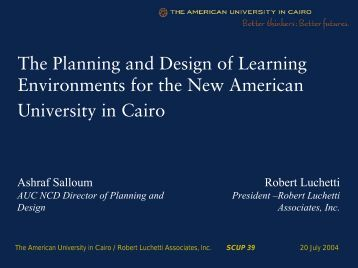 The Planning and Design of Learning Environments for the New ...