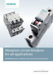 Miniature circuit breakers - Siemens Building Technologies