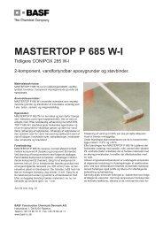 Mastertop P 685 W-I.qxp - BASF Construction Chemicals