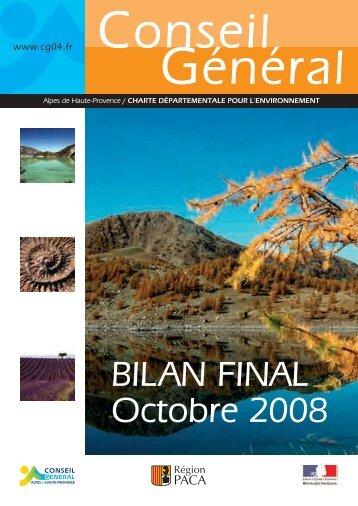 Bilan de la charte pour l'environnement - Conseil Général des Alpes ...