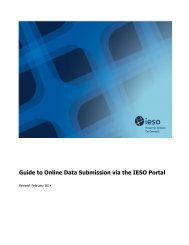 Guide to Online Data Submission via the IESO Portal