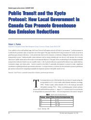 Public Transit And The Kyoto Protocol - Geography, Department of