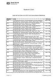 Stadtarchiv Zürich Liste der bis Ende Juni 2012 nicht ... - Stadt Zürich