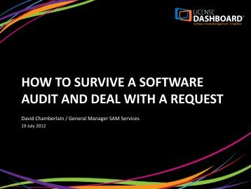 How to survive a software audit and deal with a request - License ...