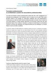 Formation professionnelle : la Confédération soutient ... - Go4metal.ch