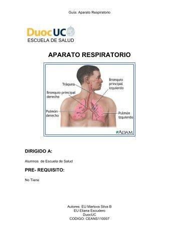 Guía: Aparato Respiratorio - Biblioteca