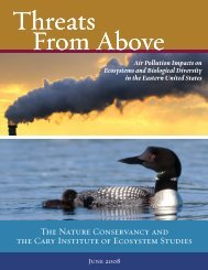 Threats From Above - Cary Institute of Ecosystem Studies