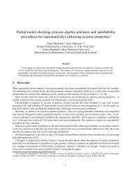Partial model checking, process algebra operators and satisfiability ...