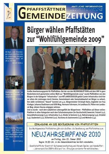 Gemeindezeitung Dezember 2009 - Pfaffstätten