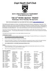 McEvoy Trophy Entry Form 2013 - England Golf