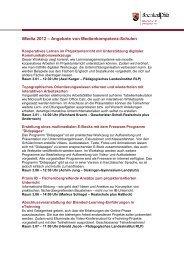 Angebote von Medienkompetenz-Schulen - iMedia