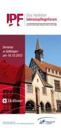 Seminar in Göttingen am 16.10.2012 - Hollister Incorporated