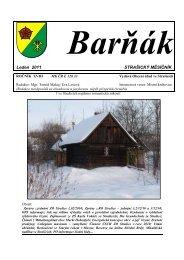 Baròák- leden 2011 - obec Strašice