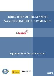 directory of the spanish nanotechnology community - Fundación ...