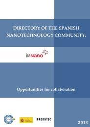 directory of the spanish nanotechnology community - Fundación ...