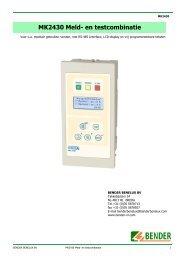MK2430 Meld- en testcombinatie - Bender Benelux BV