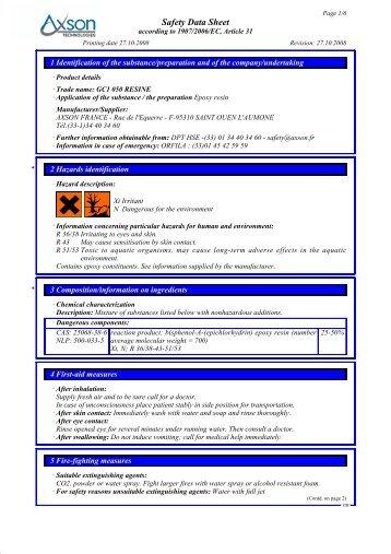 Safety Data Sheet - AMT Composites